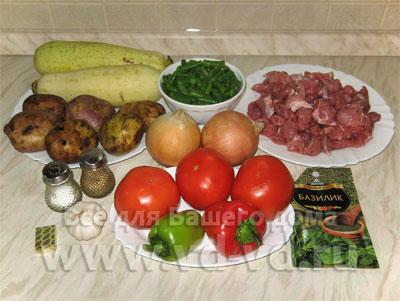 овощное рагу с картошкой и мясом рецепт с фото