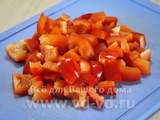 болгарский перец нарезанный кубиками