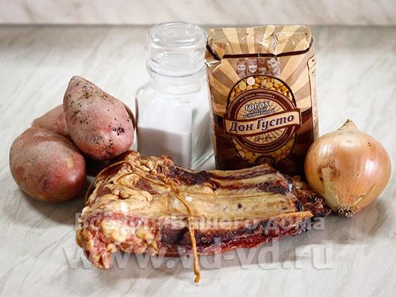 ингредиенты для горохового супа в мультиварке
