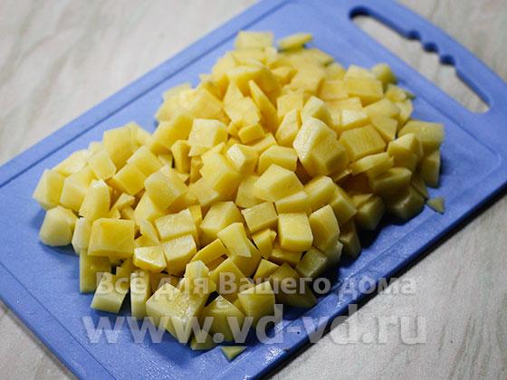 Картошка мелко нарезанная