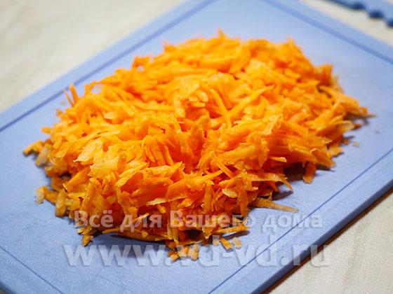морковка натрётая на тёрке