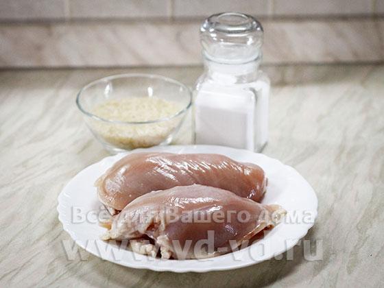 ингредиенты для курицы с рисом в мультиварке