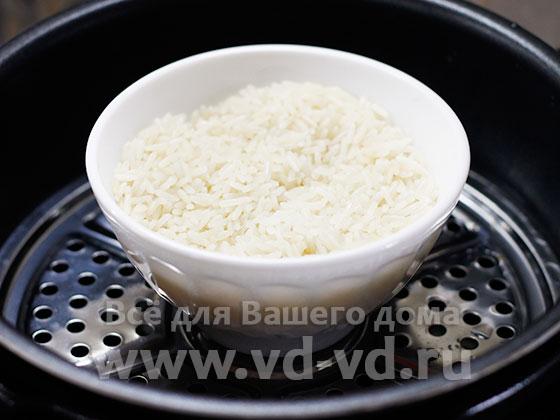 готовый рис в мультиварке на пару