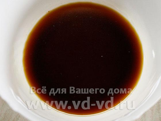 Соевый соус и мёд