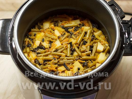 Овощное рагу скороварке рецепт с фото