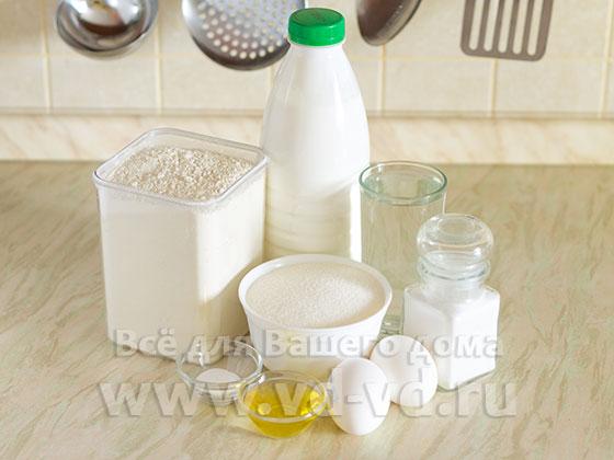 ингредиенты блинов на кефире