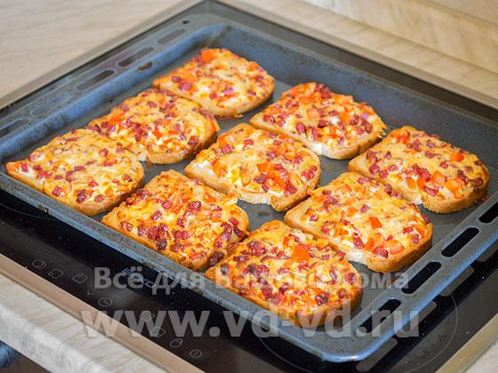 пицца из белого хлеба в духовке