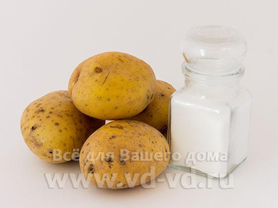 ингредиенты для жарки картошки