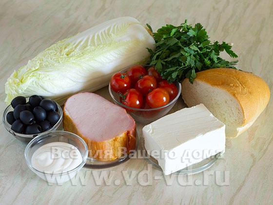 ингредиенты для пекинского салата