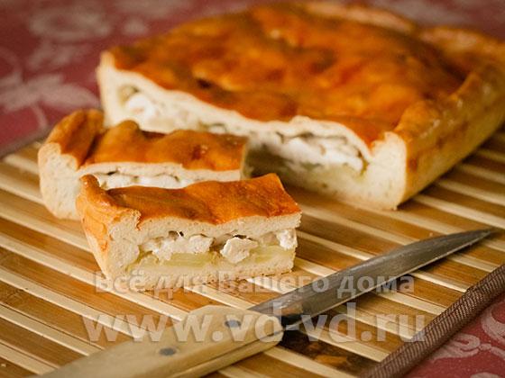 Курник с картошкой рецепт с фото