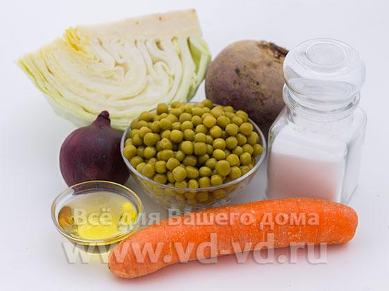 Ингредиенты для салата 5 овощей