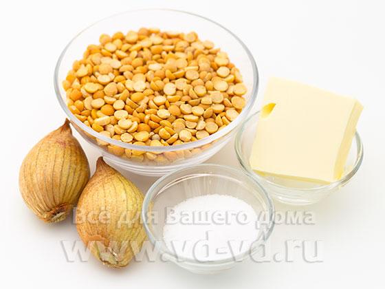 ингредиенты для гороховой каши в мультиварке