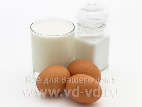 ингредиенты для высокого омлета