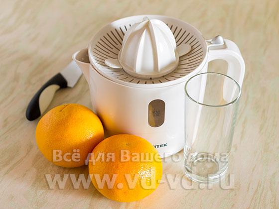 Ингредиенты для сока из грейпфрута