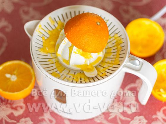 Выжымиется сок из апельсинов