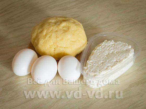 Ингредиенты для творожного пирога в мультиварке