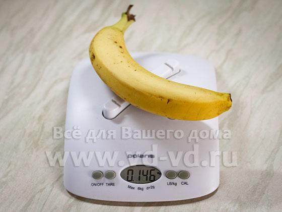 Банан ккал на 100 грамм