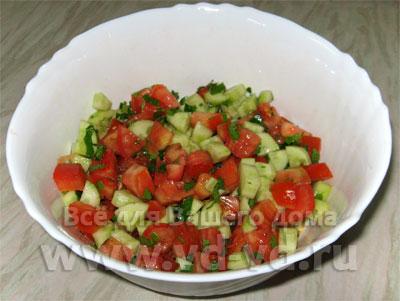 Калорийность салат с помидорами и маслом