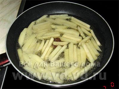 Как сделать картофель фри дома на сковороде