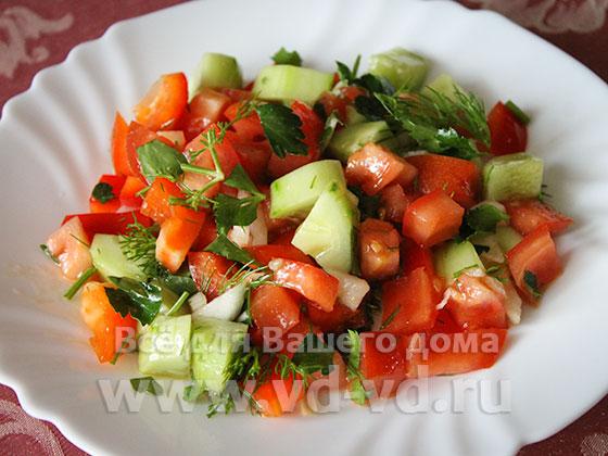 Овощные салаты с болгарским перцем рецепты