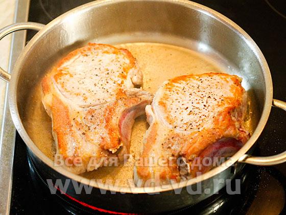 рецепт антрекот из свинины на сковороде рецепт с фото