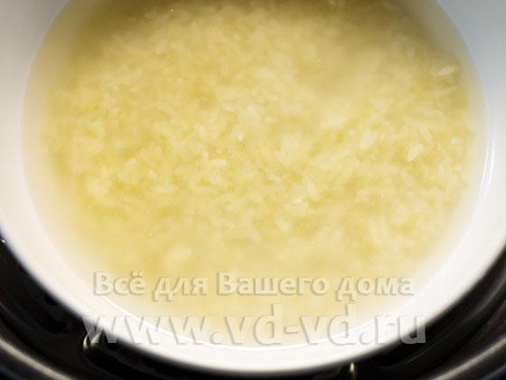 Сырой рис в мультиварке