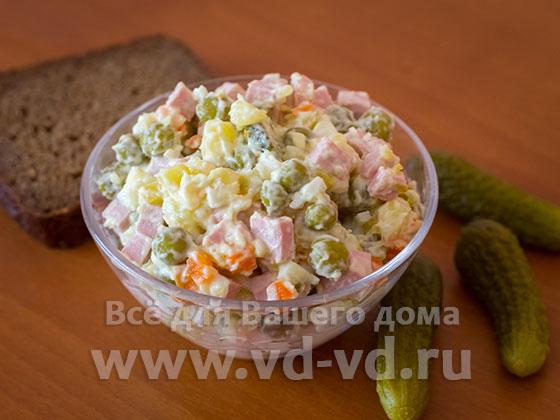 Рецепт салата оливье в домашних условиях